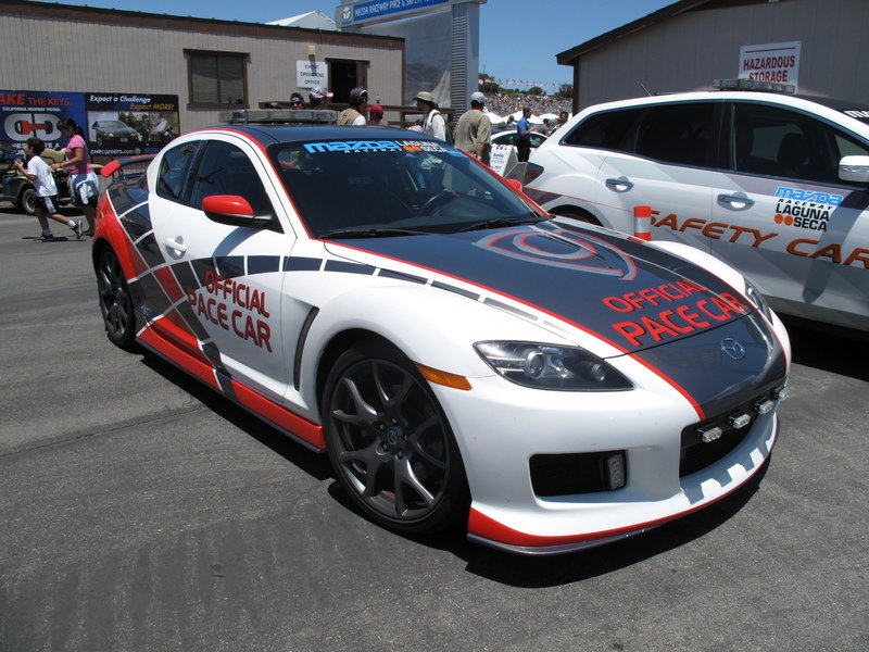 Mazda Raceway Laguna Seca safety cars: Mazda6, CX-7 and RX-8