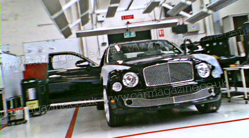 New Bentley Arnage spied undisguised