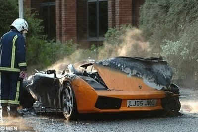 Charmant New Lamborghini Gallardo Ravaged By Fire