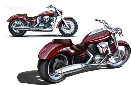 2010 Red Yamaha V-Star 950