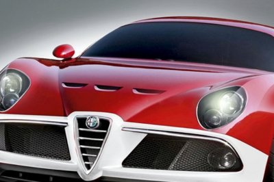 Alfa Romeo 8C GTA rendered