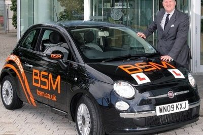 The official British School of Motoring will use Fiat 500 city cars to teach student drivers