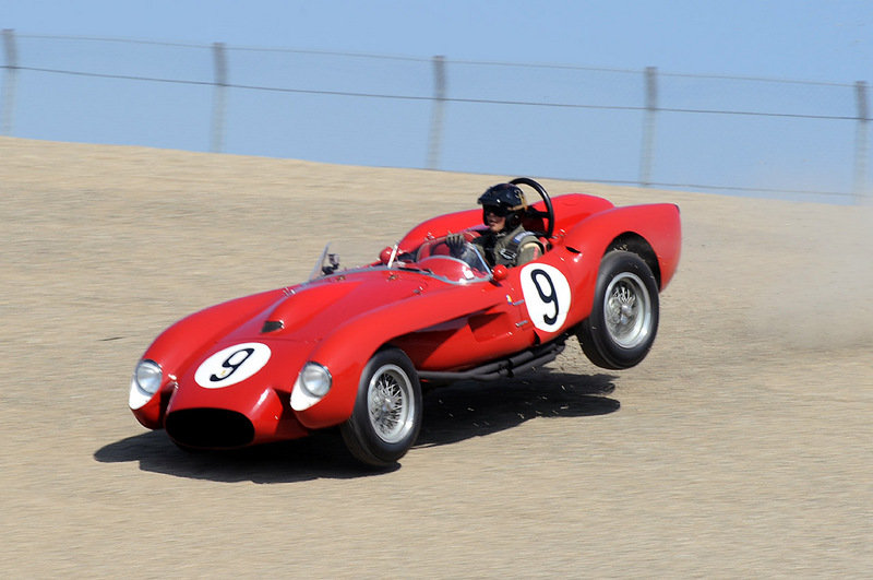 Ferrari 250 TR crashes into tire wall at Laguna Seca
