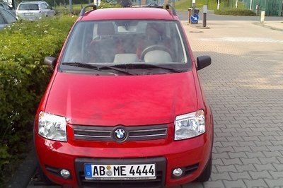 Fiat Panda comes with...a BMW badge?