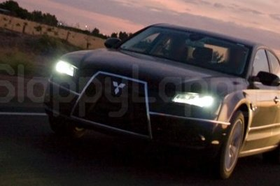 Spy shot of Diamond Star Audi A8