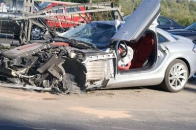 2008 McLaren Mercedes SLR crashes a day after it was bought
