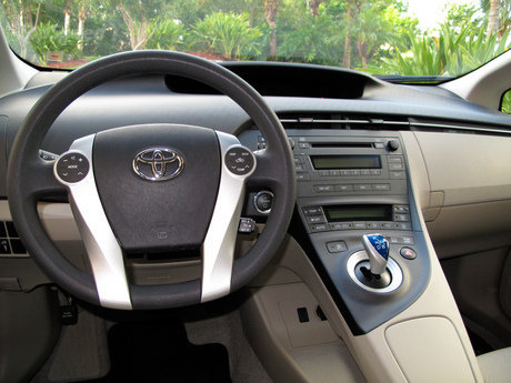 climbed inside the Bisque/Sand Beige interior of our 2010 Toyota Prius