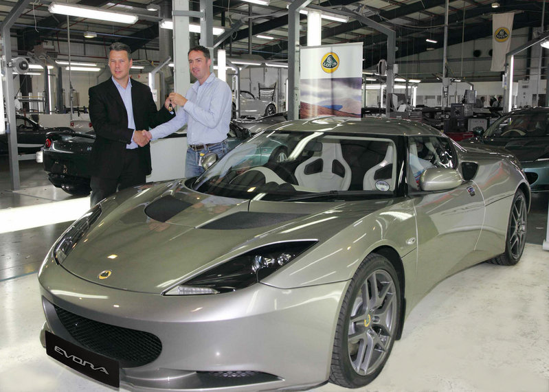 Owner picks up first purchased Lotus Evora at the factory