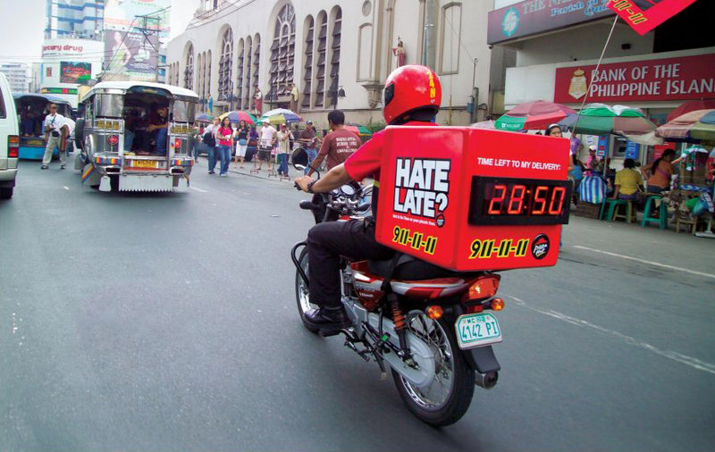 Pizza Hut Delivery Bikes Come Standard With A Countdown ...