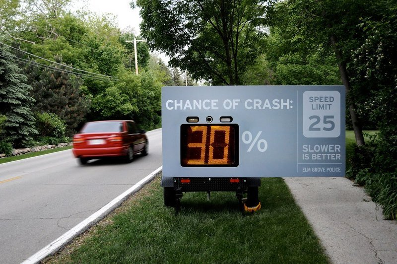 Speed limit billboard in Milwaukee takes different approach in reminding drivers to drive within limits