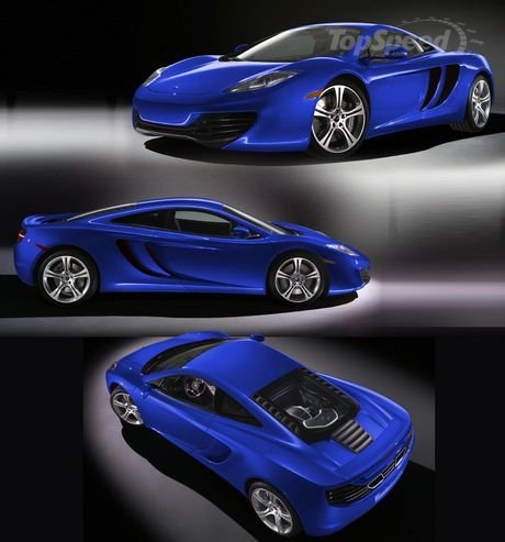 Blue Cars McLaren MP4-12C