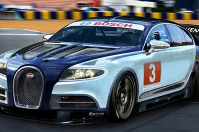 Bugatti Galiber Touring car rendered