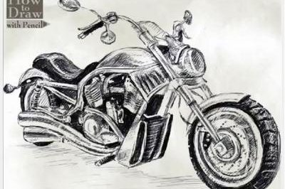 9 steps to drawing a Harley-Davidson V-Rod [w/video]