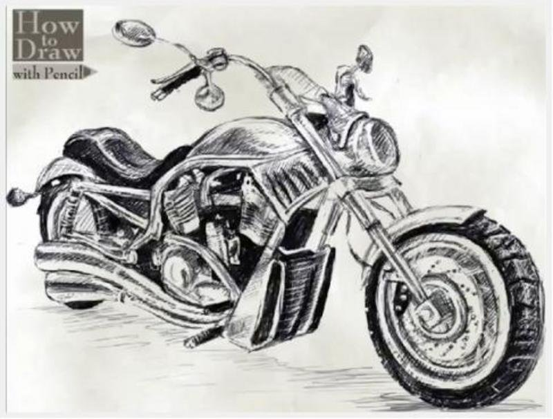 9 Steps To Drawing A Harley Davidson V Rod W Video Top Speed
