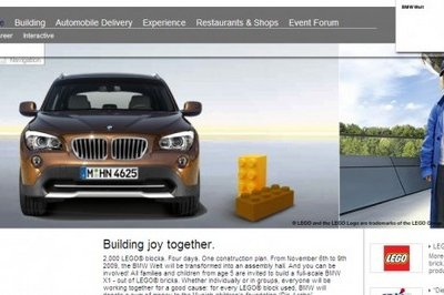 BMW invites families to build BMW X1 out of LEGO blocks