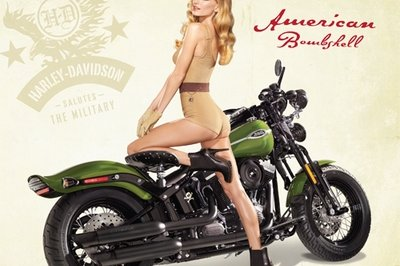 Harley-Davidson and Marisa Miller salute the U.S. Military [w/video]