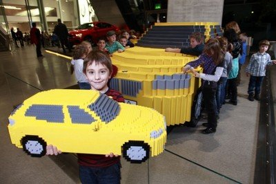 Kids re-create full-scale LEGO BMW X1