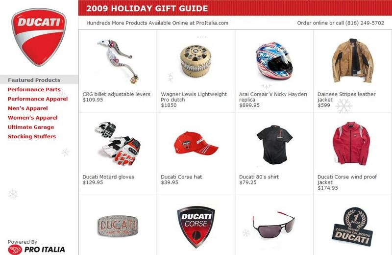Pro Italia & Ducati team up to launch Ducatigifts.com