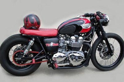Triumph Bonneville Bobber can't see any better days