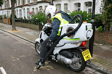 My Motorcycles News 125cc Honda Scooter Is Londons Street Washing