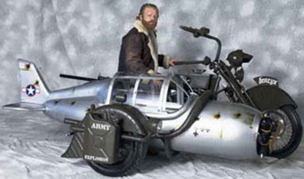 All Crash Parts >> Custom Yamaha Motorcycle Gets WW2 Plane Sidecar Pictures | motorcycle News @ Top Speed