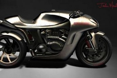 Metalback café racer concept runs on biodiesel