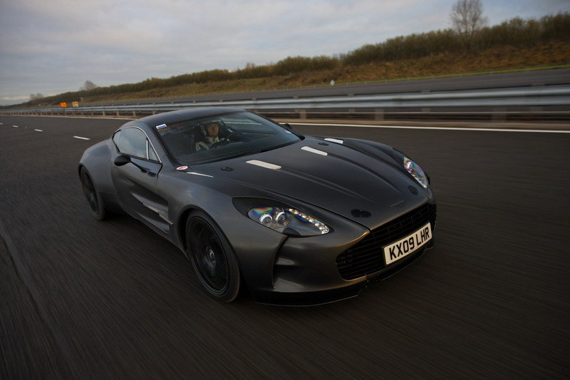 One-77 supercar breaks speed record for an Aston Martin