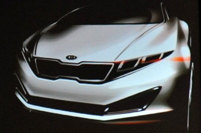 Teaser sketch of Kia's new luxury car revealed in South Korea