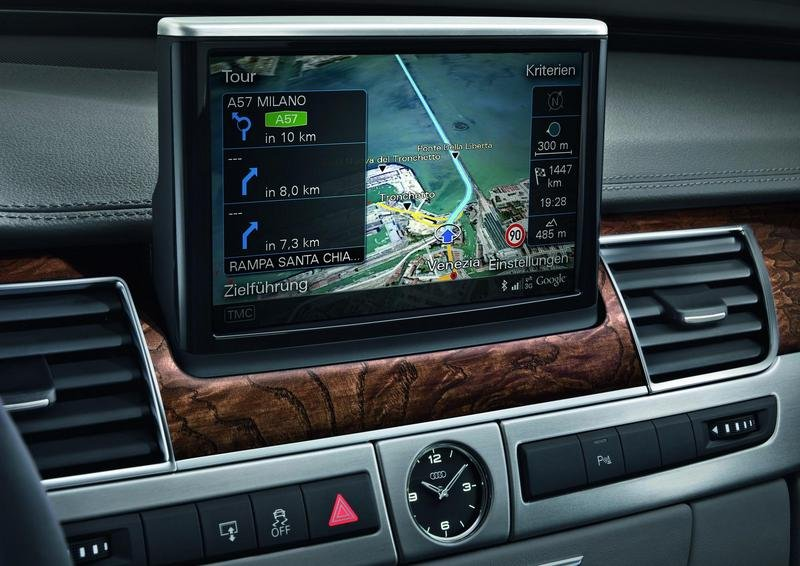 The new Audi A8 will offer Google Earth for the first time in a production vehicle