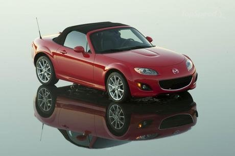 2012 Mazda Mx 5 Miata. The front of the MX-5 features