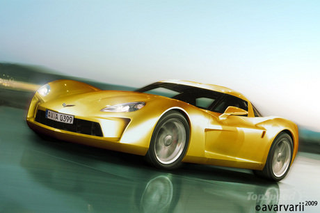 Corvette C7 2012. corvette c7 rendered by