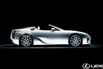 Rendering of a roadster variant of the Lexus LF-A