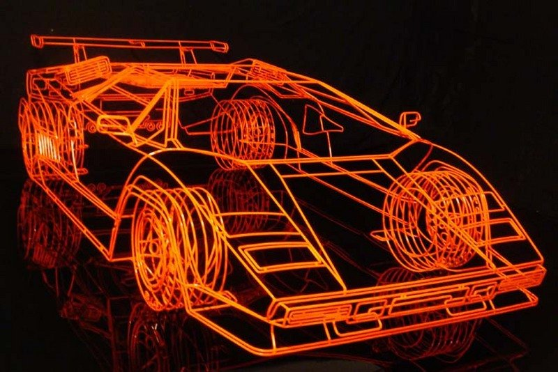 Wireframe Lamborghini Countach being sold for $65,000