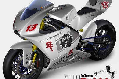 599 Blue Label Moto2 racing concept