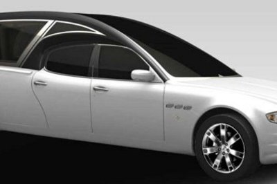 Maserati Quattroporte gets turned into a funeral hearse