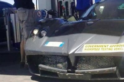 Pagani C9 spied testing in South Africa