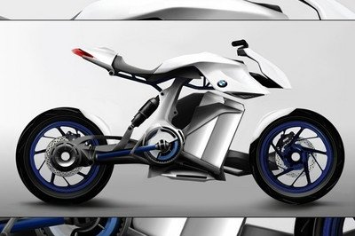 Plausible BMW fuel cell motorcycle concept [w/video]