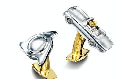Prince of Wales has aluminum pistons from Aston Martin DB6 Volante melted into cufflinks for charity