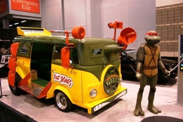 turtle van makes appearance at the chicago auto show picture