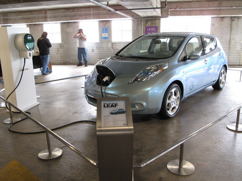 We drive the 2011 Nissan LEAF, kind of
