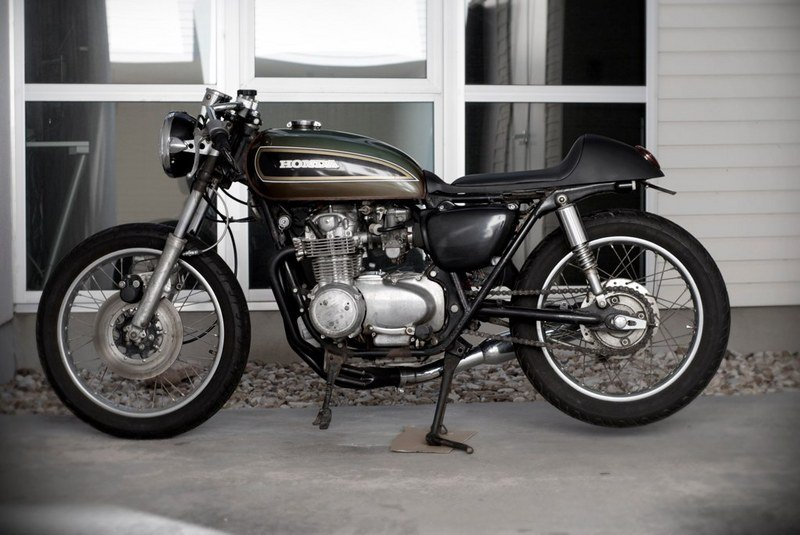 1976 Honda CB550 café racer up for sale