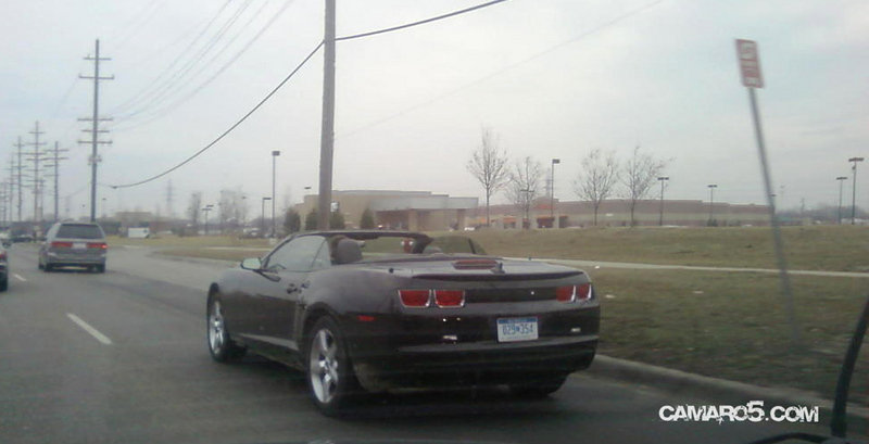 2012 Camaro Convertible spotted with top down