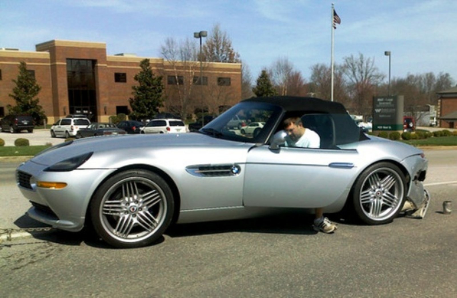 Alpina Tuned Bmw Z8 Gets Rear Ended By A Dodge Stratus