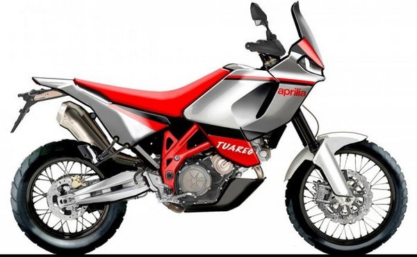 aprilia tuareg rendering reveals possible bmw gs rival picture