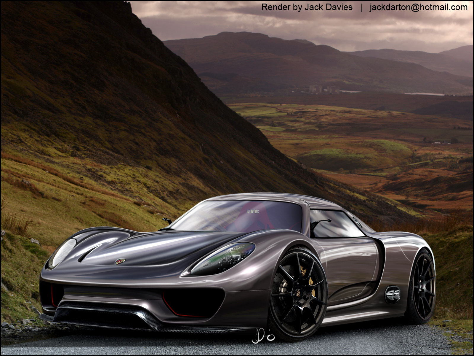 artist renders porsche 918 spyder concept news top speed. Black Bedroom Furniture Sets. Home Design Ideas