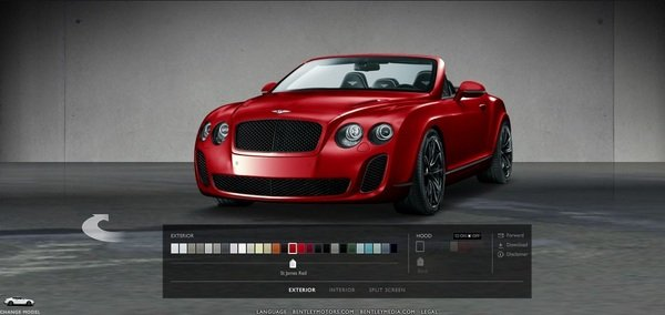 bentley mulsanne and continental supersport configurator picture