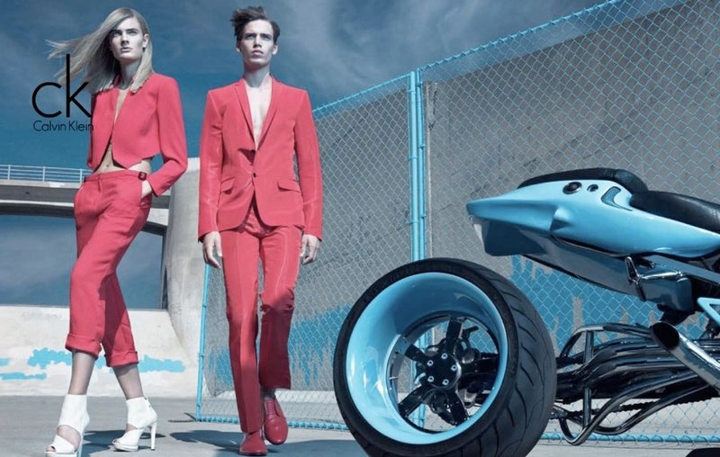 Calvin Klein motorcycle suits?