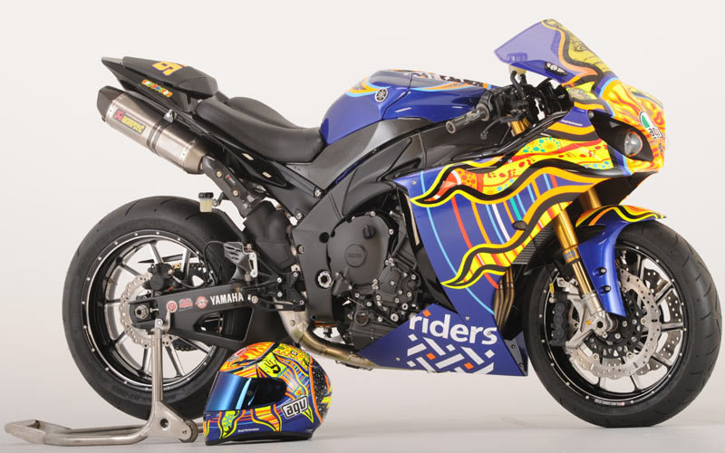 Custom Yamaha R1 Rossi Edition to go up for charity auction