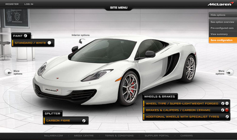 Customize Your Car Online >> Customize Your Mclaren Mp4 12c Using Their New Online