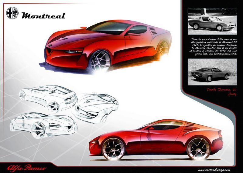 Design student renders concept of Alfa Romeo Montreal